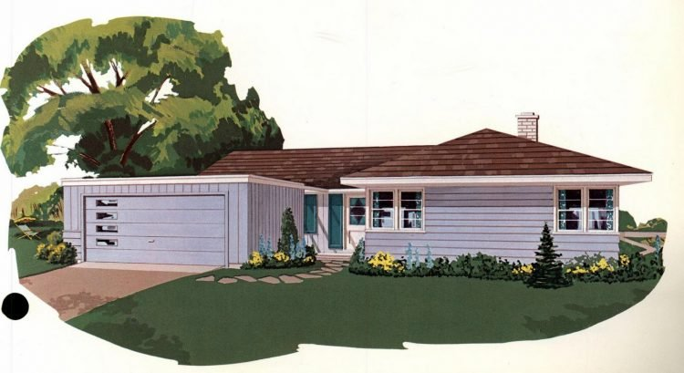 Vintage 1960s home plan 7107 (1)