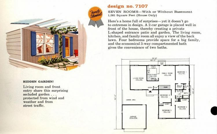 Vintage 1960s home plan 7107 (2)