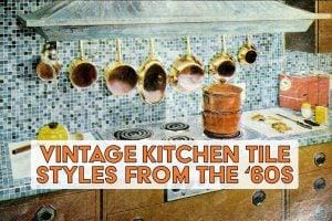 Vintage 1960s kitchen tile