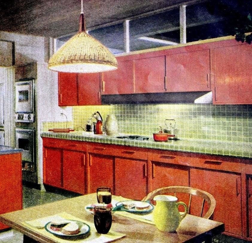 Vintage 1960s kitchen tile design ideas (1962)