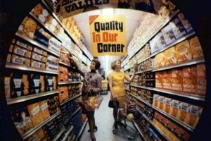 Vintage 1960s supermarkets and old-fashioned grocery stores