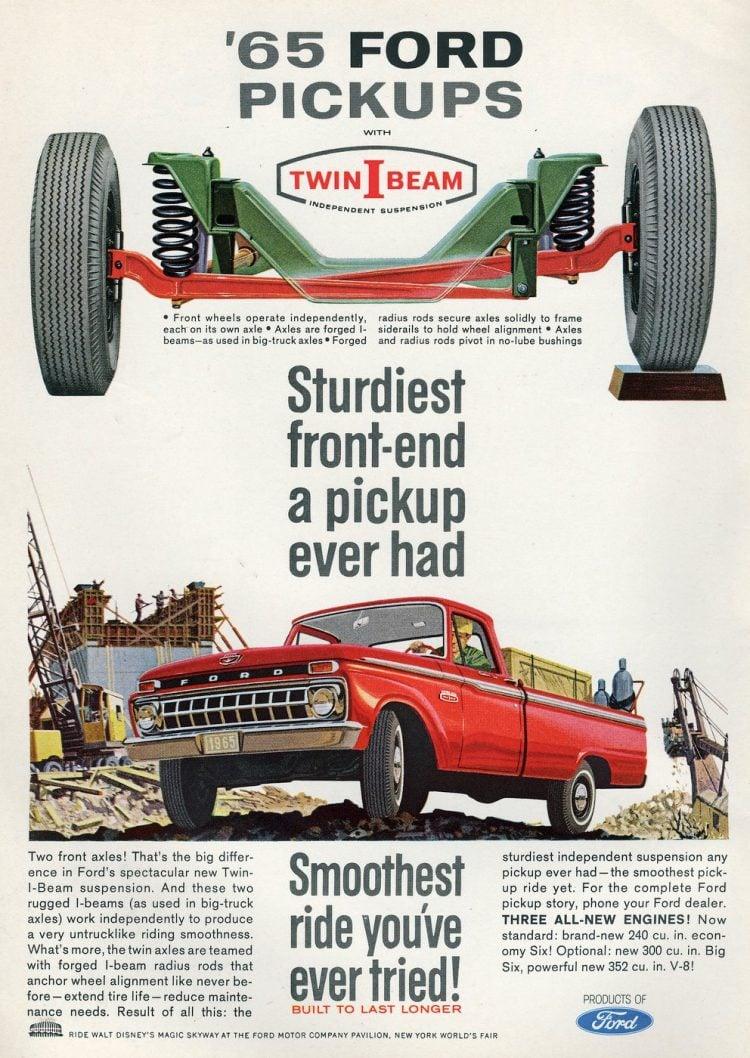 Vintage 1965 Ford pickup truck