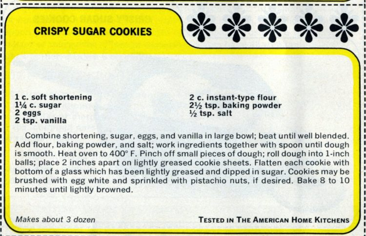 Vintage 1965 crispy sugar cookie recipes (2)