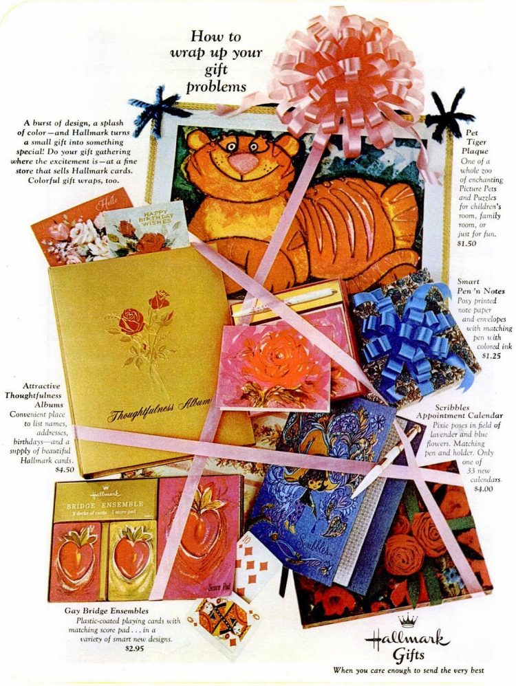 Vintage 1966 Hallmark stationery cards and more