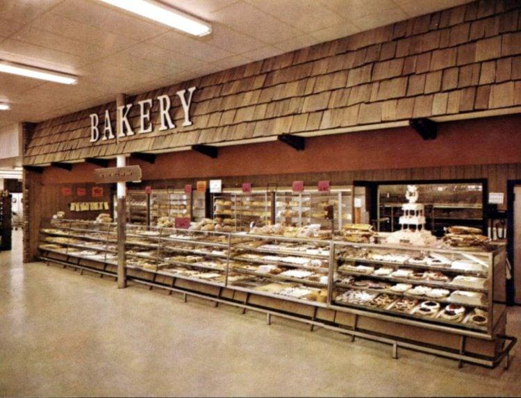 Vintage 1967 Fisher Foods bakery department