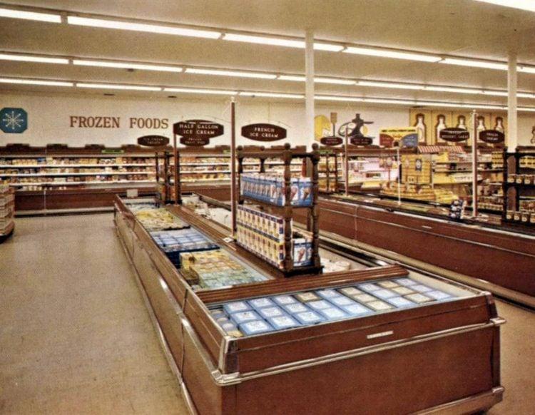 Vintage 1967 Fisher Foods frozen food department