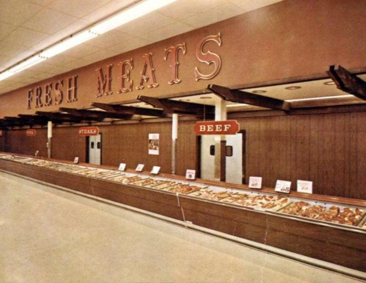 Vintage 1967 Fisher Foods meat department