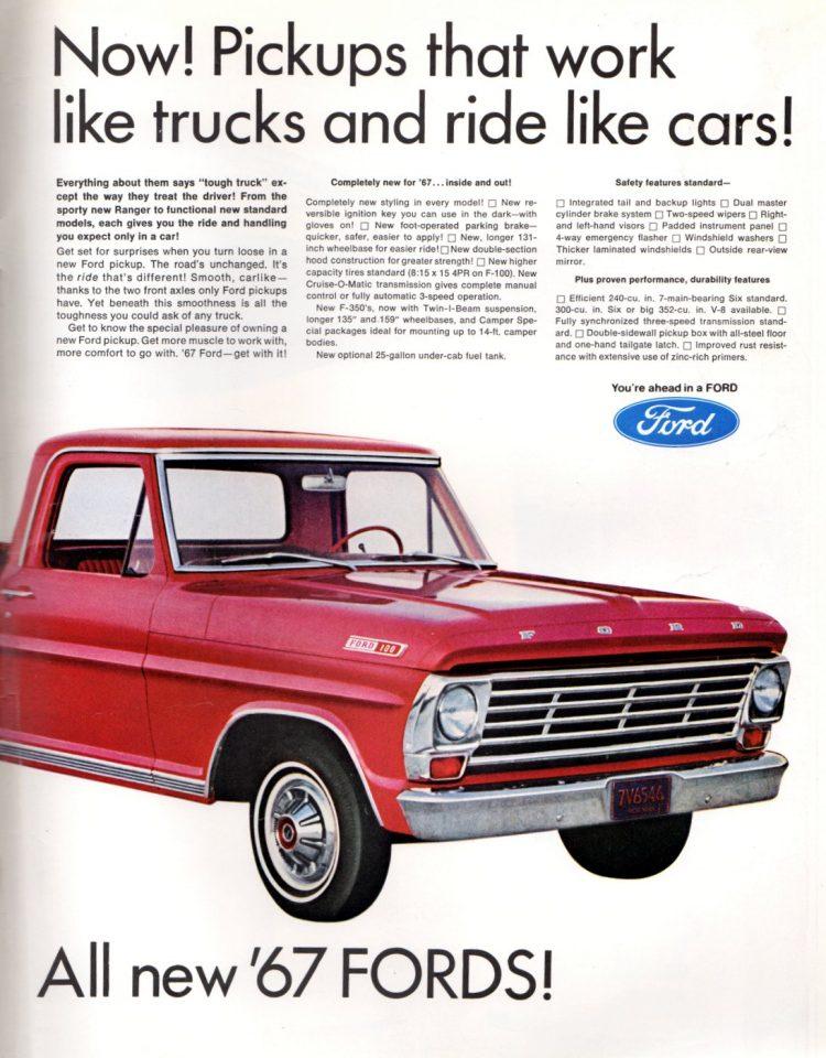 Vintage 1967 Ford pickup trucks (2)