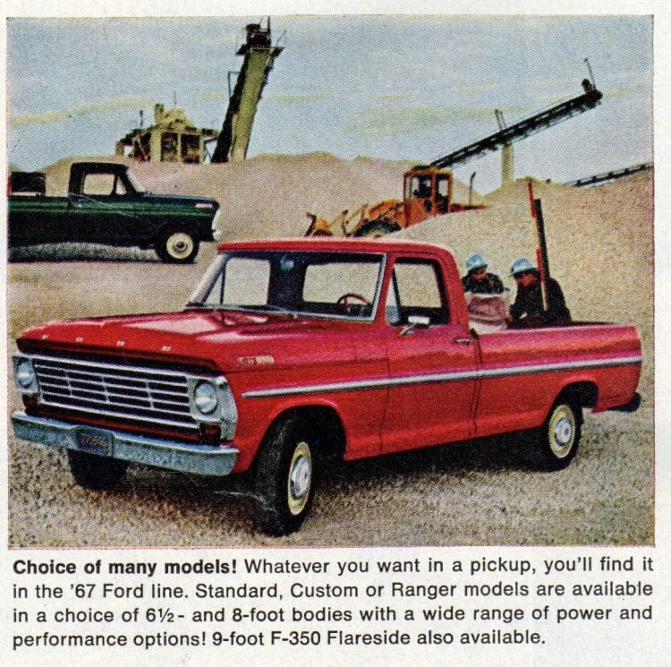 Vintage 1967 Ford pickup trucks (4)
