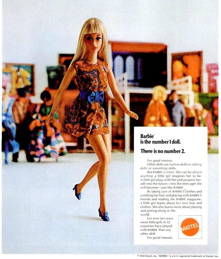 Vintage 1970 Barbie dolls