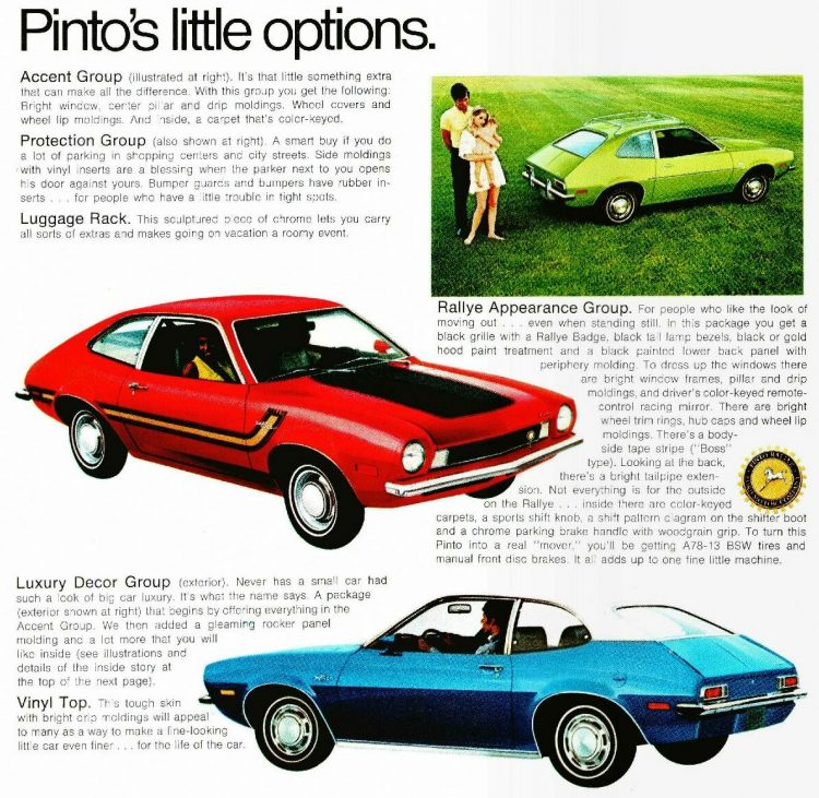 Vintage 1970 Ford Pinto cars