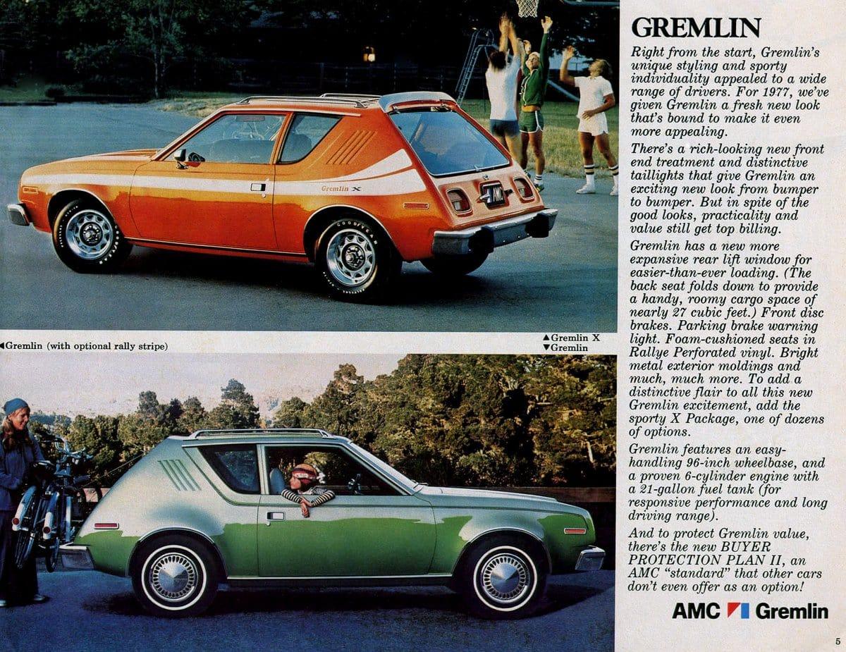 Vintage 1970s AMC Gremlin cars