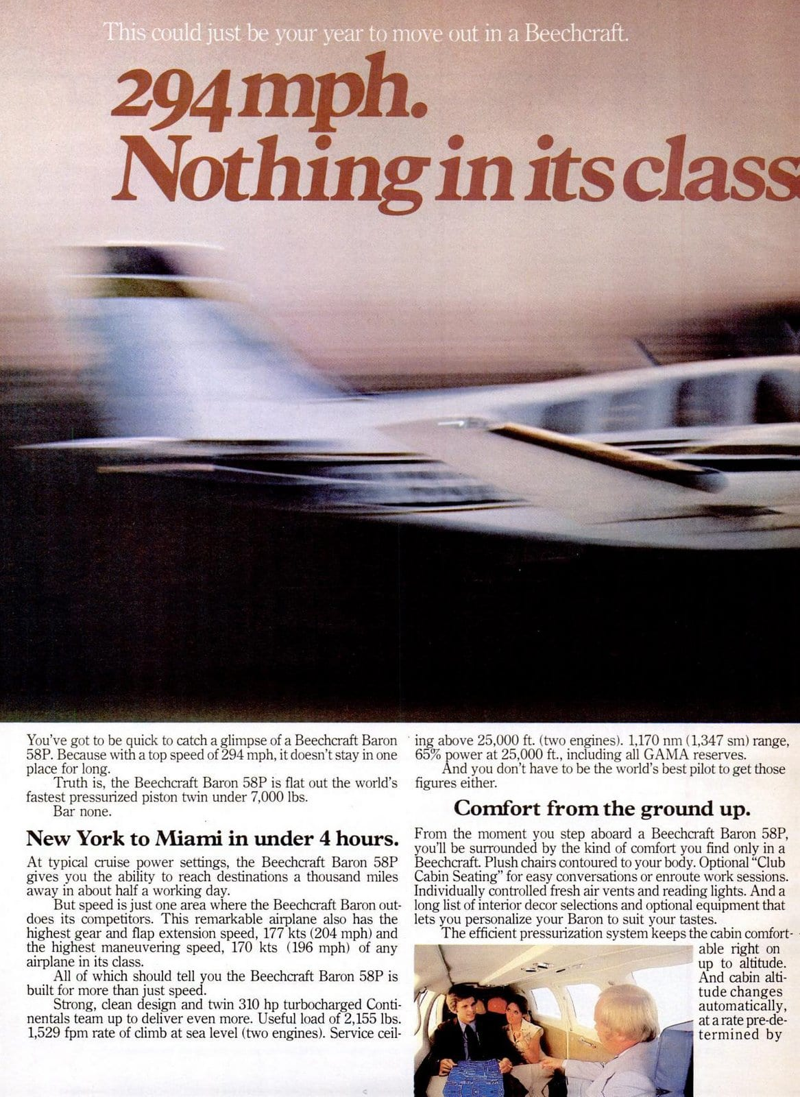 Vintage 1970s Beechcraft Baron 58P airplanes from 1978 (1)