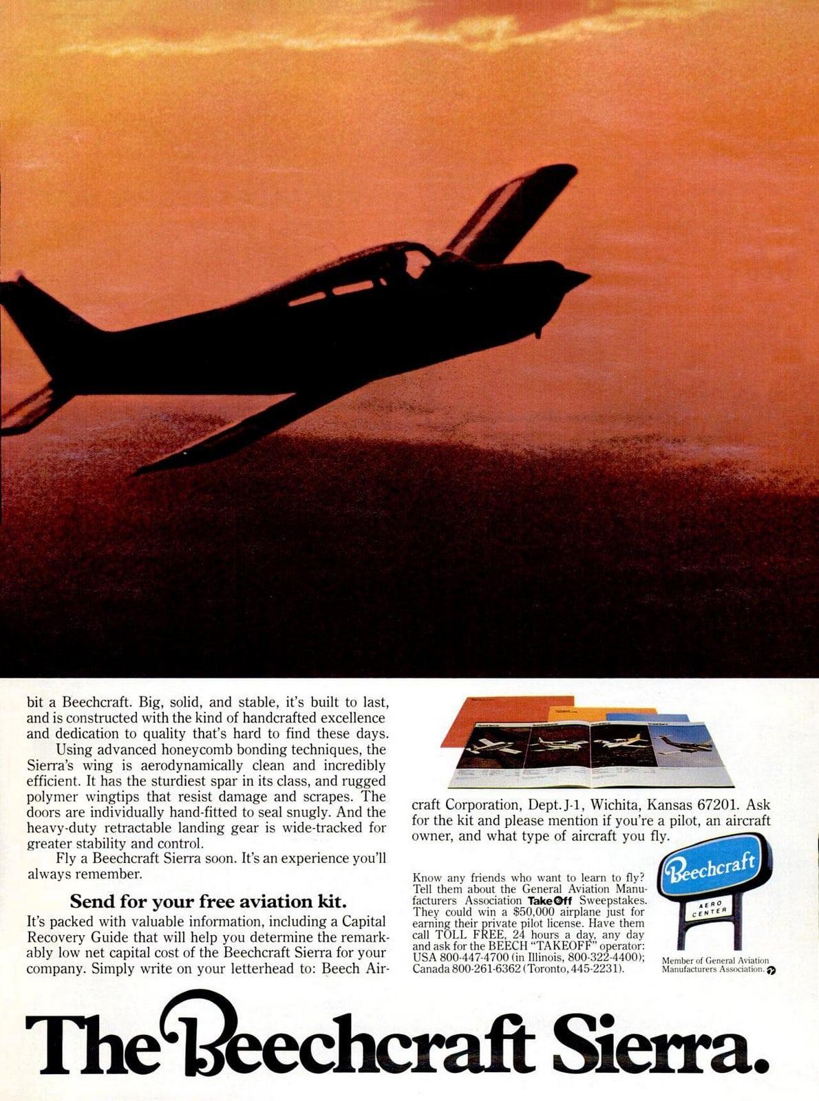 Vintage 1970s Beechcraft Sierra airplanes from 1978 (1)