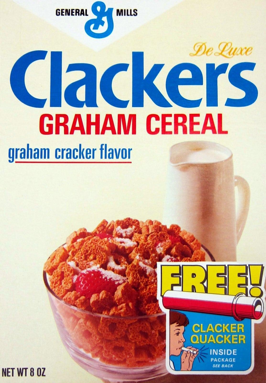 Vintage 1970s Clackers graham cracker flavor cereal