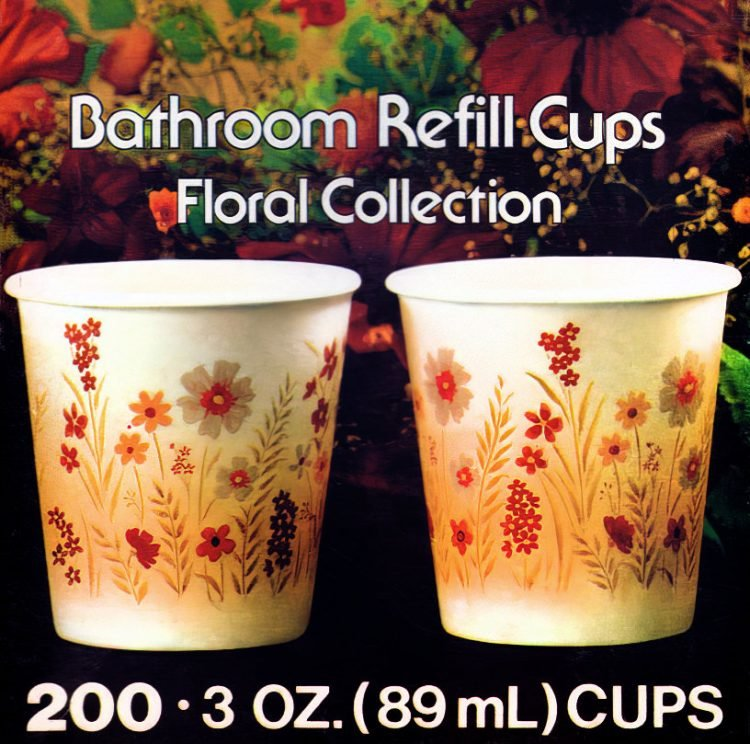 Vintage 1970s Dixie Cup designs - Floral collection