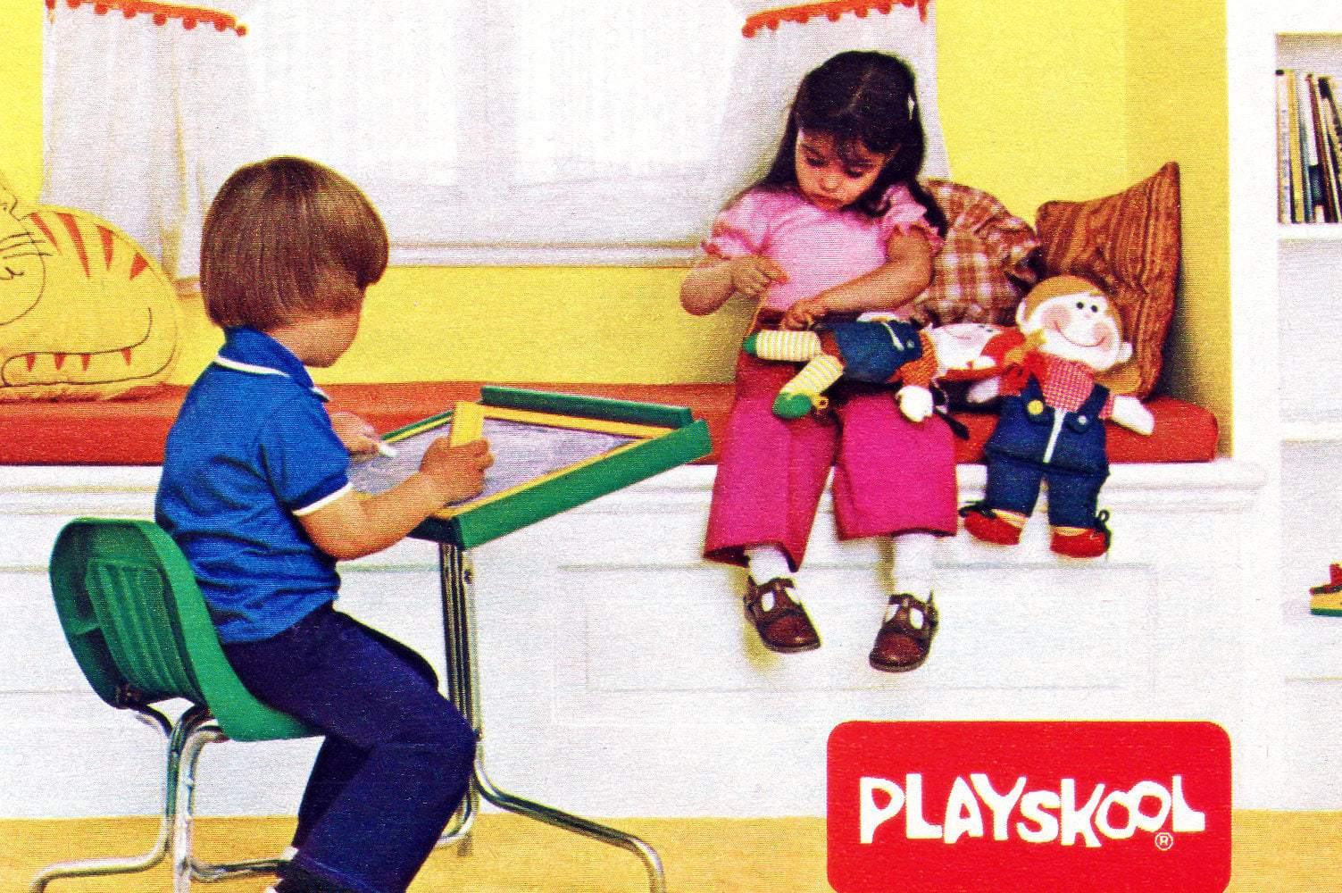 Vintage 1970s Playskool toys, dolls, ride-ons and other fun for kids