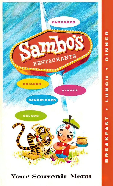 Vintage 1970s Sambo's souvenir menu