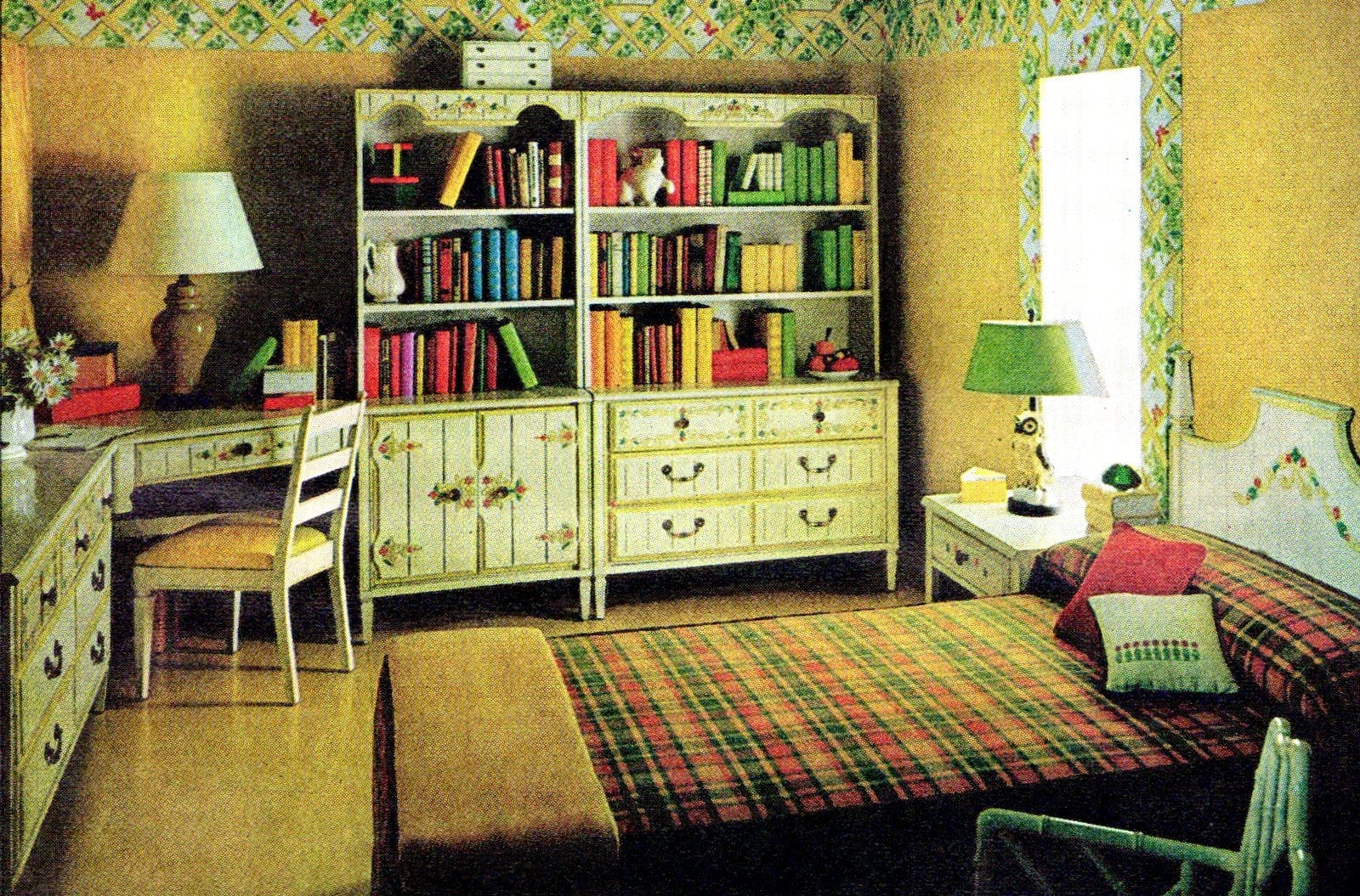 Vintage 1970s bedroom ideas for teens - Furniture and home decor (1)