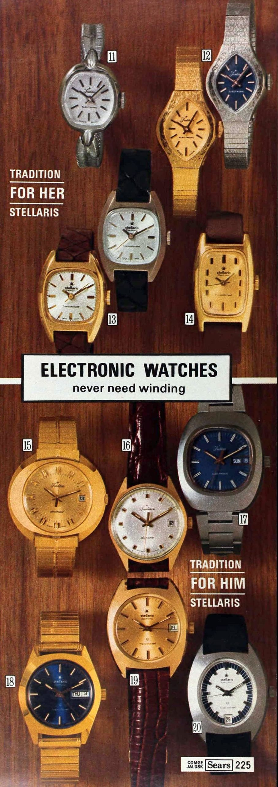 Vintage 1970s electronic watches (1975)