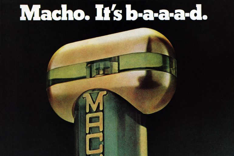 Vintage 1970s men's cologne called Macho