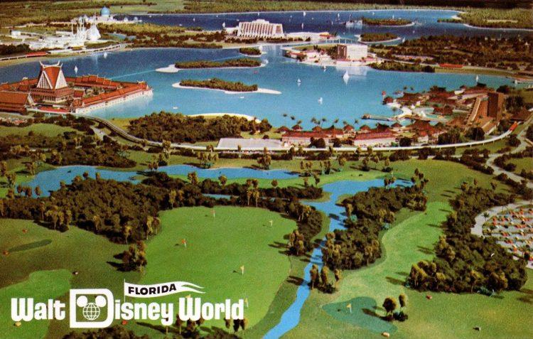 Vintage 1971 Florida Walt Disney World postcard - park model