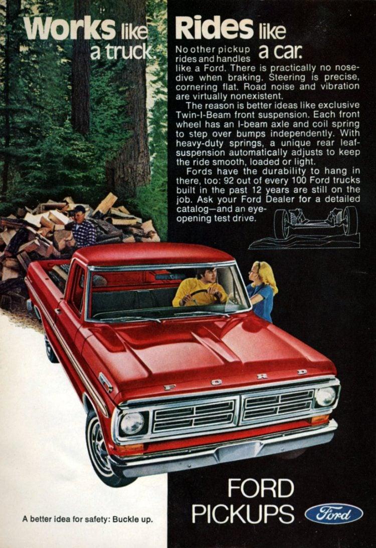 Vintage 1972 Ford pickup trucks (2)