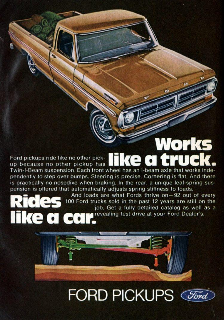 Vintage 1972 Ford pickup trucks (3)