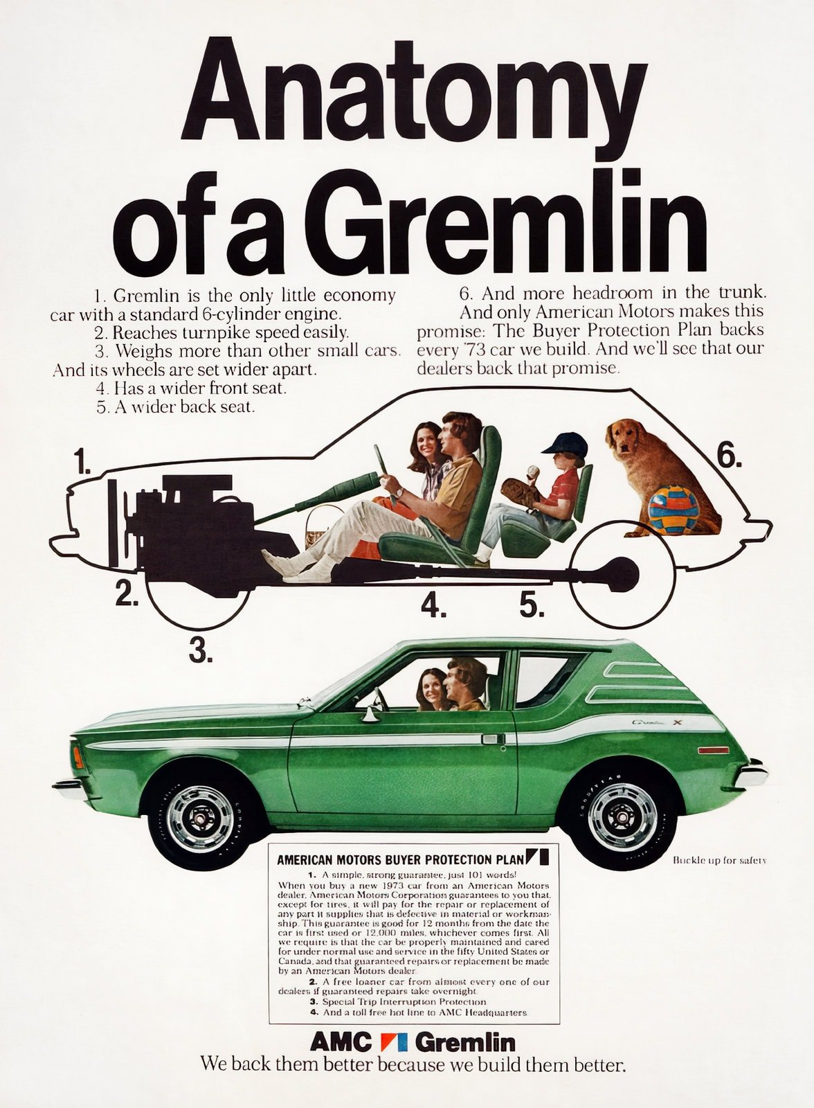 Vintage 1973 American Motors Gremlin cars