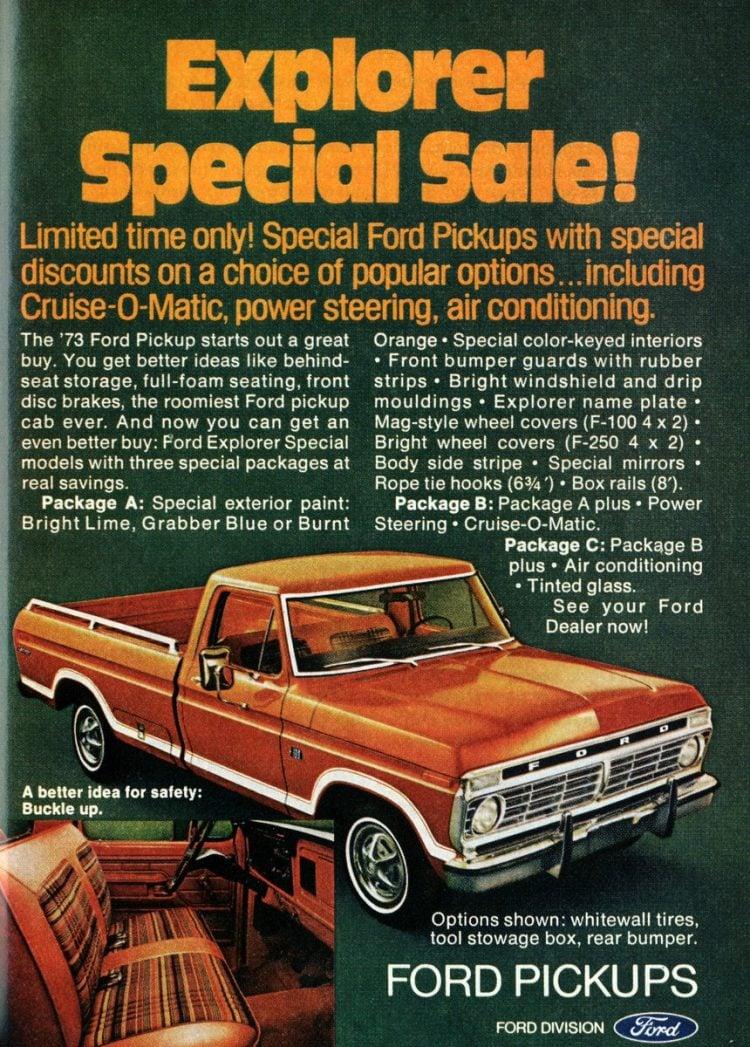 Vintage 1973 Ford pickup truck