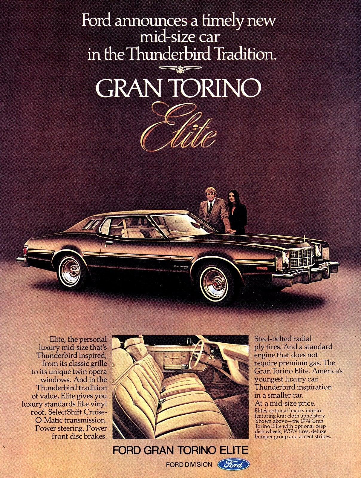Vintage 1974 Gran Torino Elite