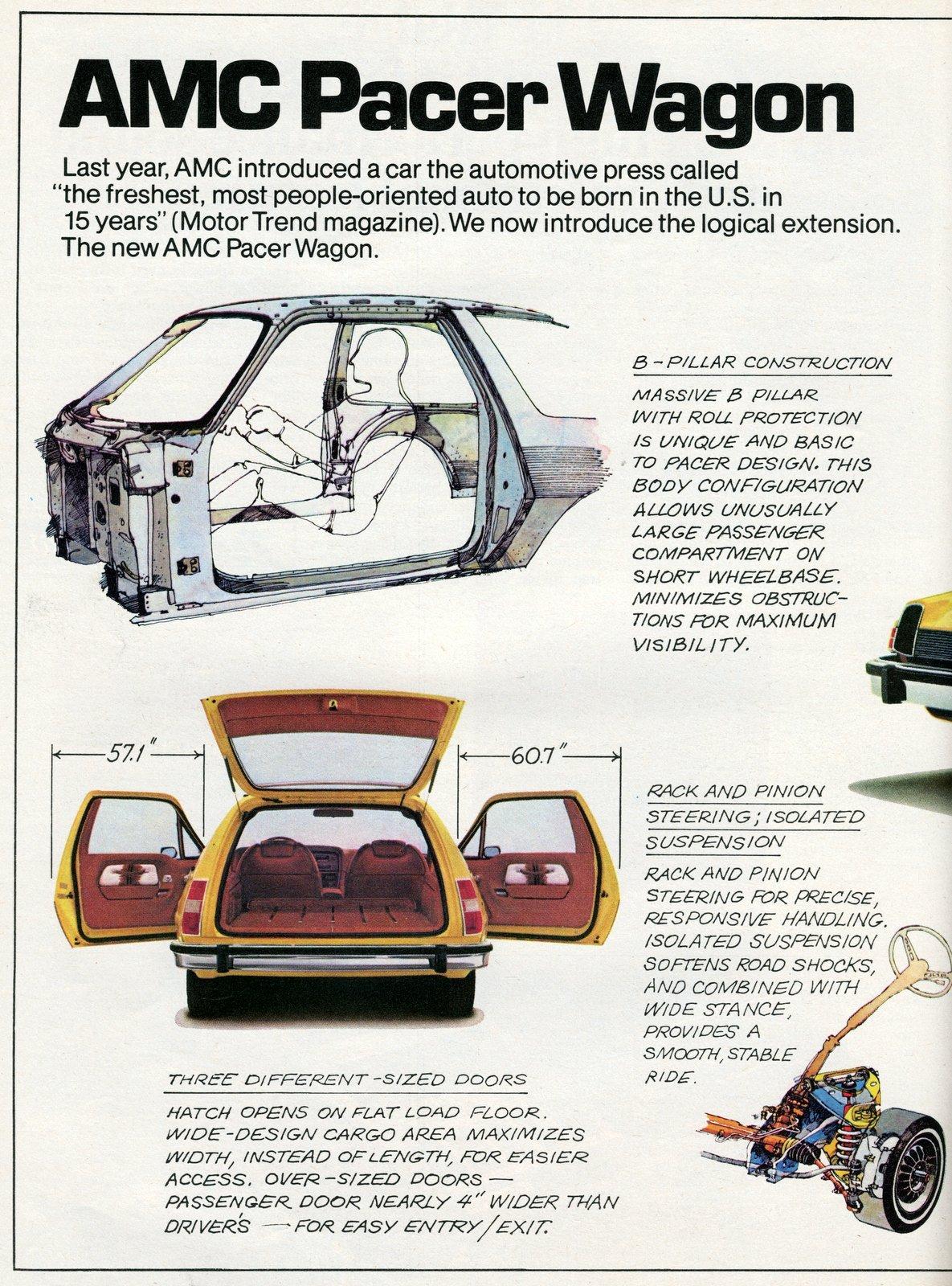 Vintage 1977 AMC Pacer Wagons (2)