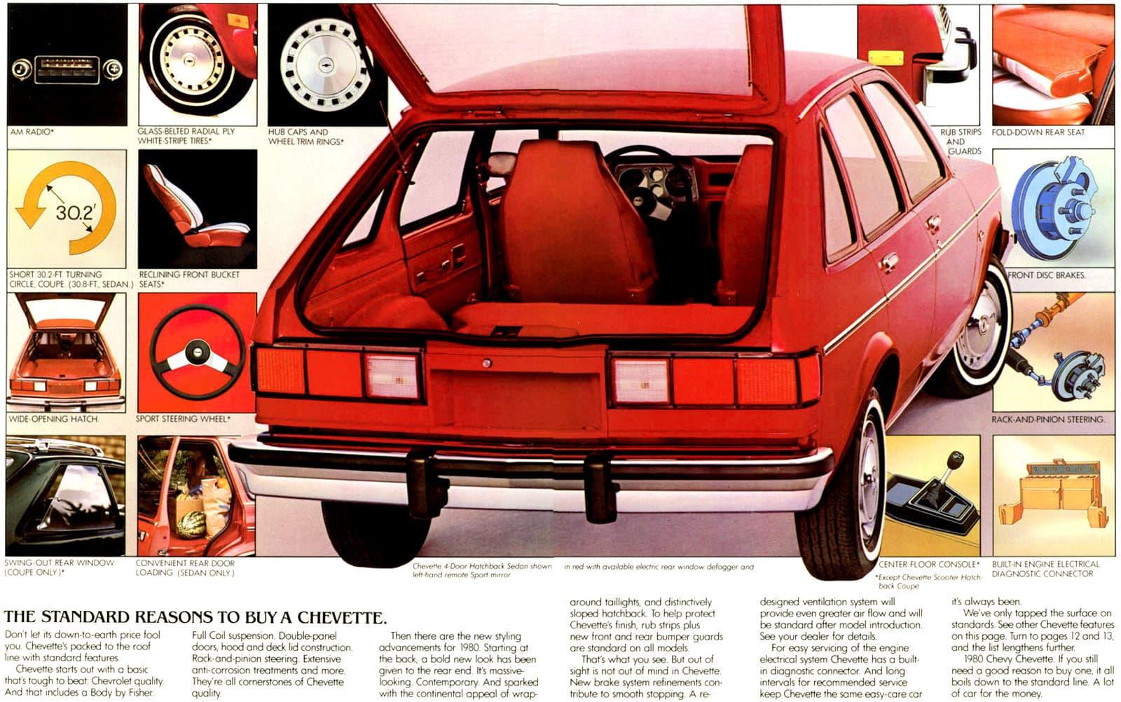 Vintage 1980 Classic Chevy Chevette car (3)