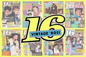 Vintage 1980s 16 magazine covers