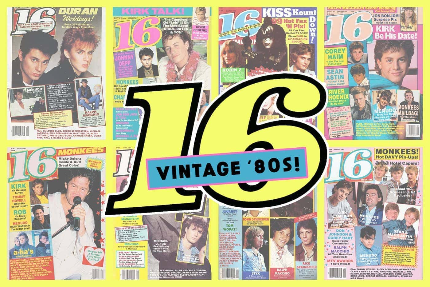 Sixteen Covers Of 16 Magazine From The 80s Click Americana