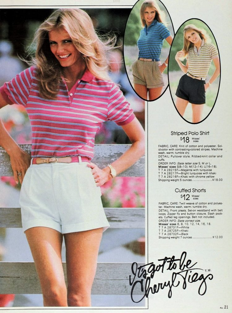 Vintage 1980s Cheryl Tiegs clothing line at Sears - Fashion photos (14)