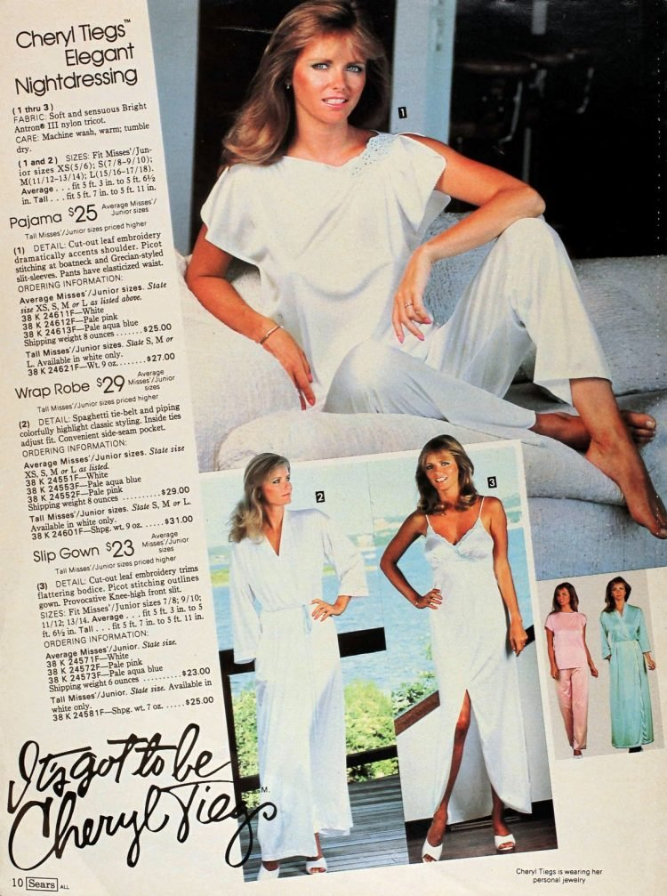 Vintage 1980s Cheryl Tiegs clothing line at Sears - Fashion photos (6)