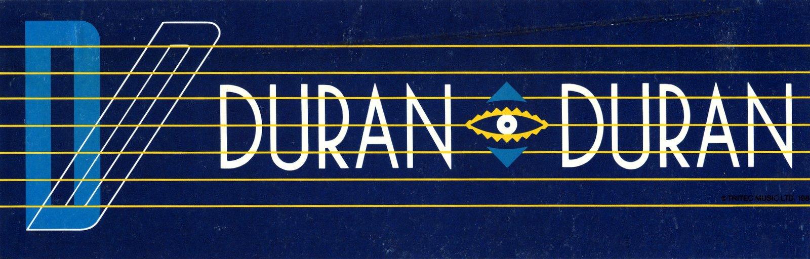 Vintage 1980s Duran Duran bumper sticker