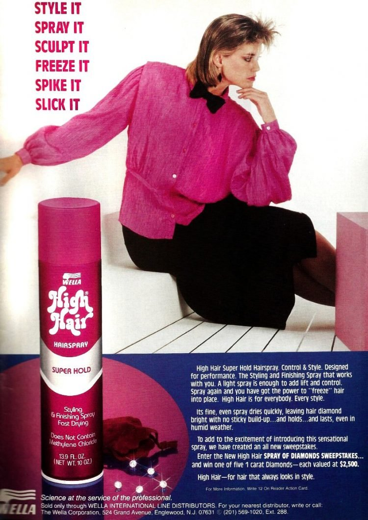 Vintage 1980s High Hair hairspray