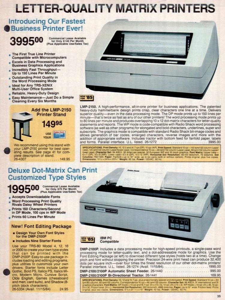 Vintage 1980s Radio Shack TRS-80 printer catalog (2)