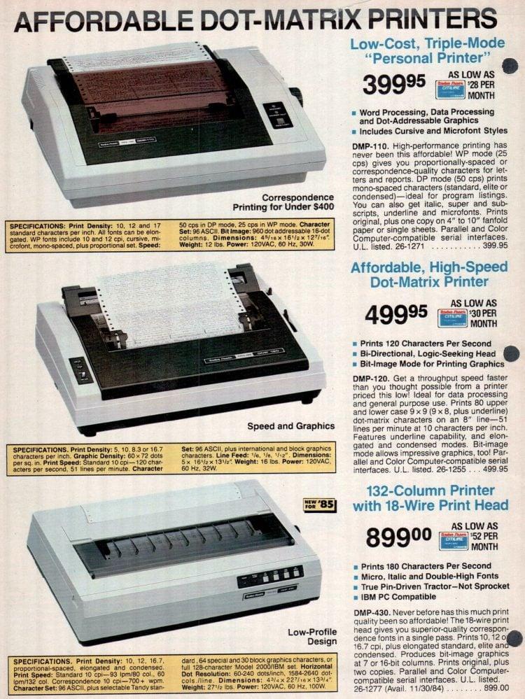 Vintage 1980s Radio Shack TRS-80 printer catalog (3)