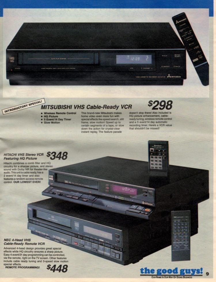 Vintage 1980s VCRs from NEC, Hitachi, Mitsubishi, Sharp, Panasonic, Sony, Sanyo (2)