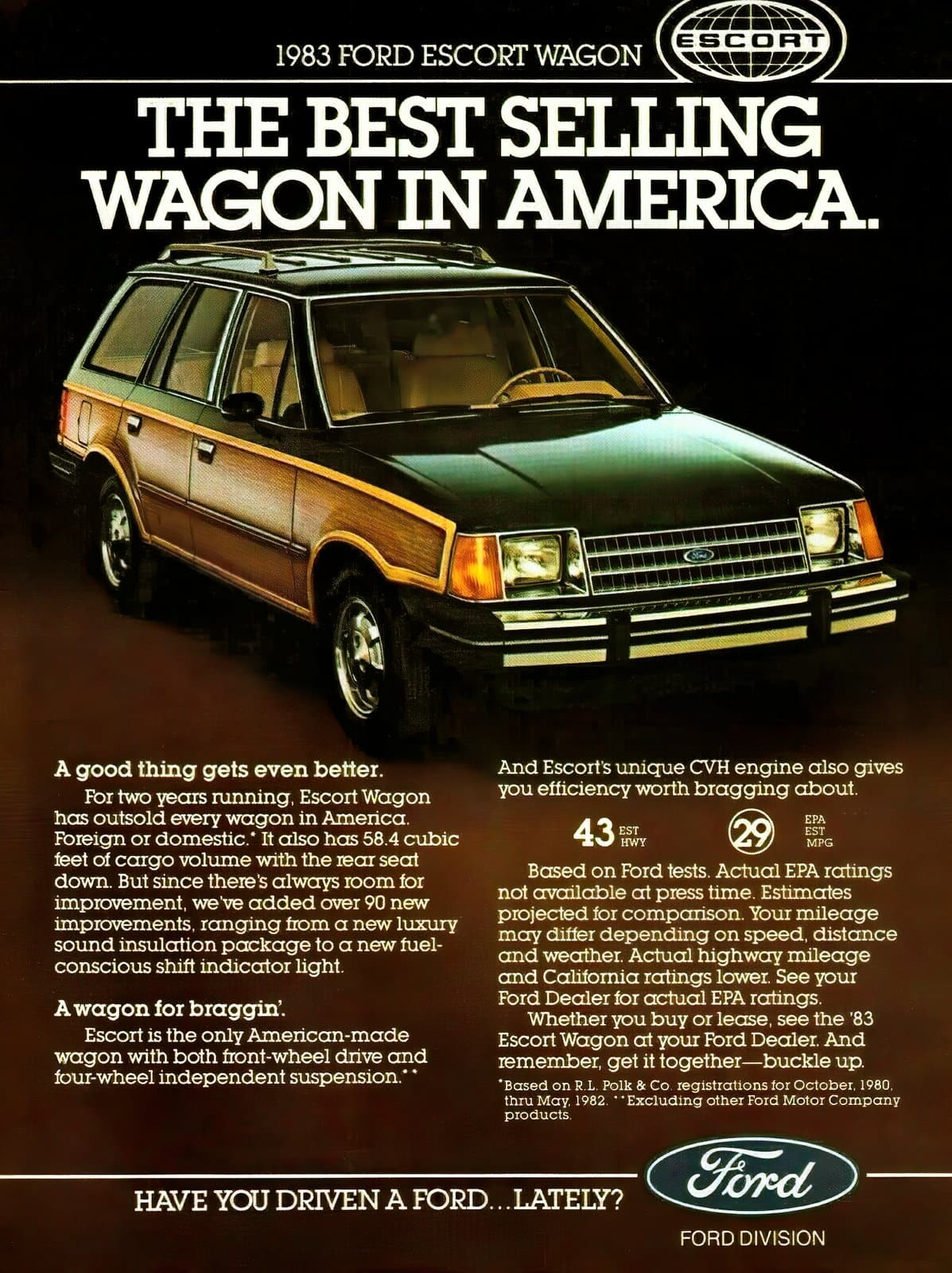 Vintage 1983 Ford Escort wagon