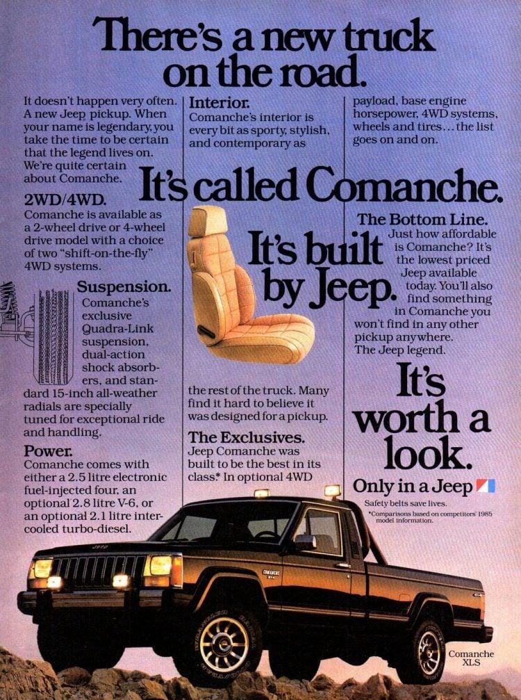 Vintage 1985 Jeep Comanche pickup truck