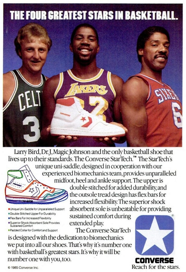 Vintage 1985 basketball stars for Converse shoes