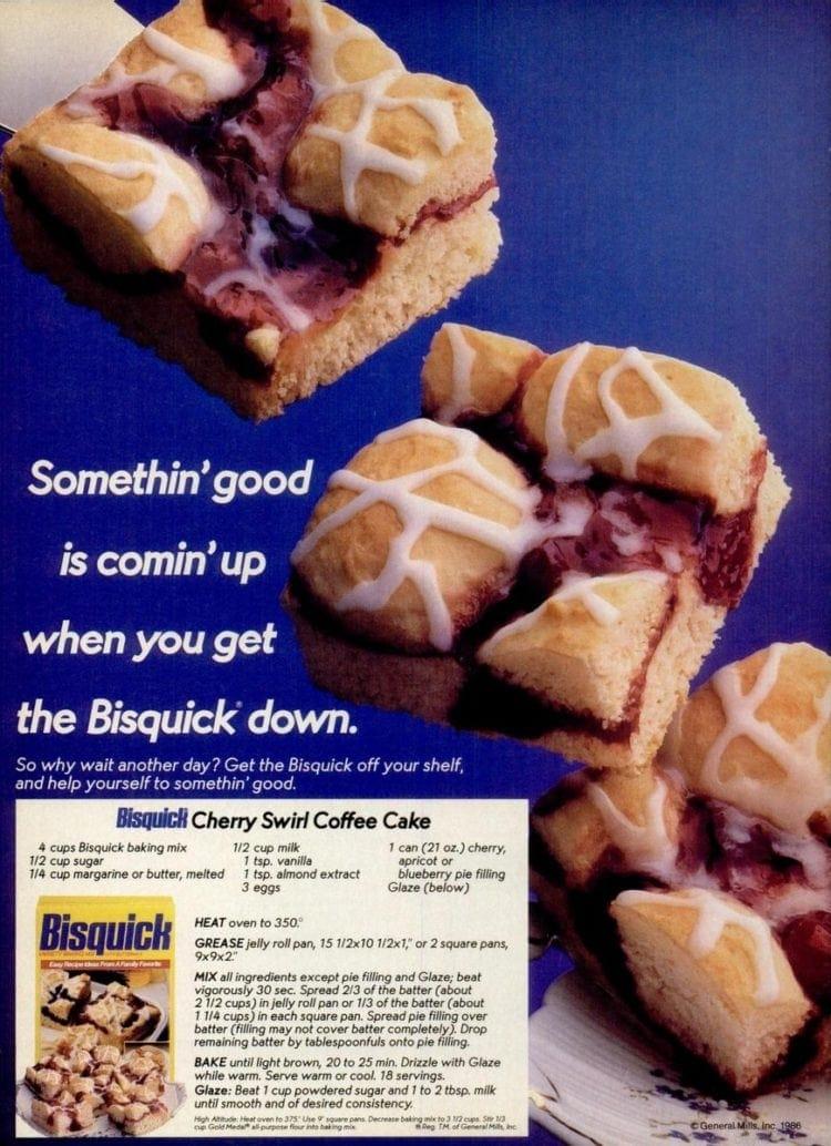 Vintage 1986 Cherry Swirl Coffee Cake recipe