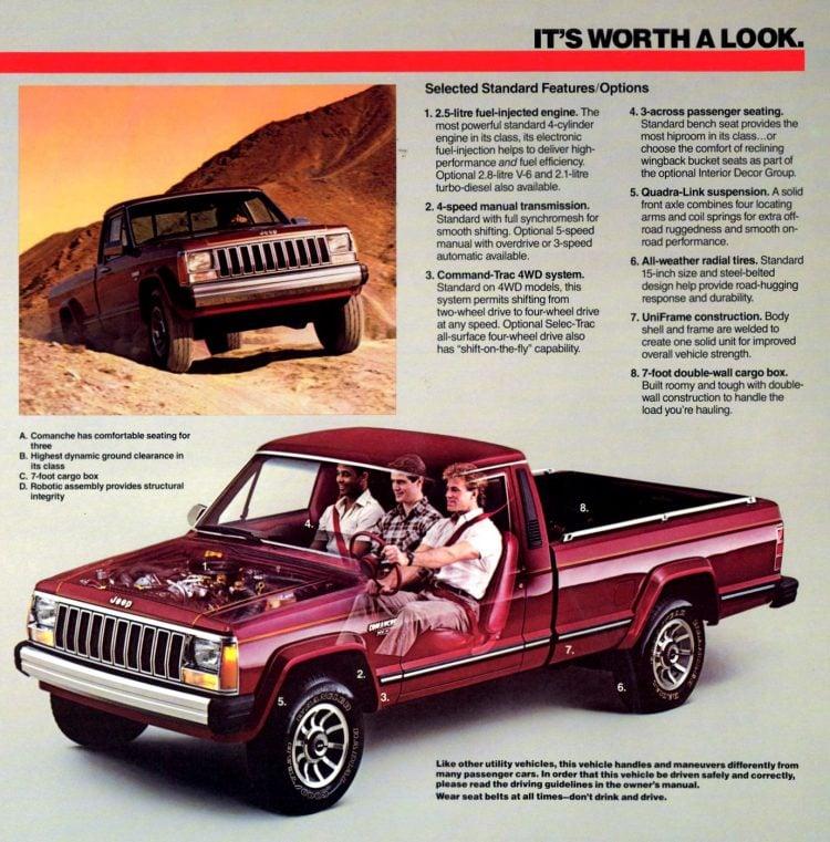Vintage 1986 Jeep Comanche pickup truck