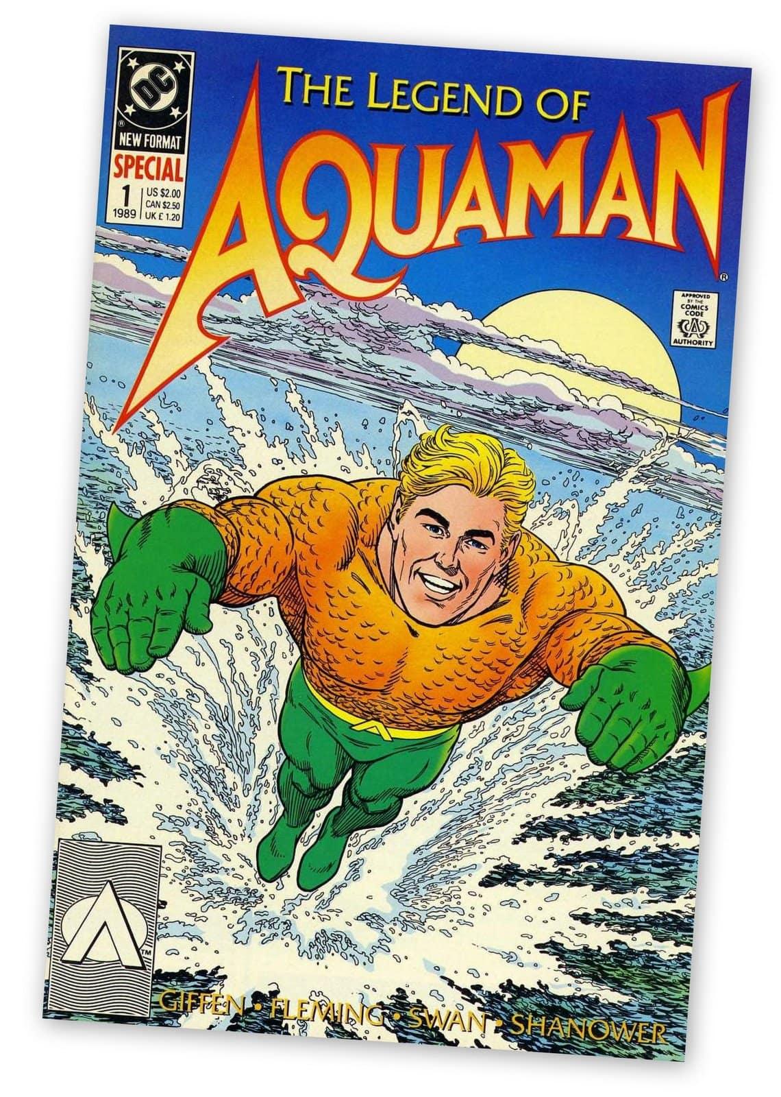 Vintage 1989 Aquaman comic book cover