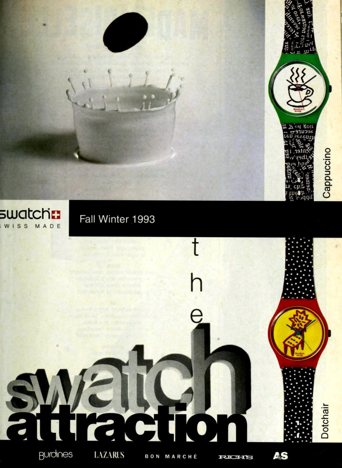 Vintage 1990s Swatch ad (1993)