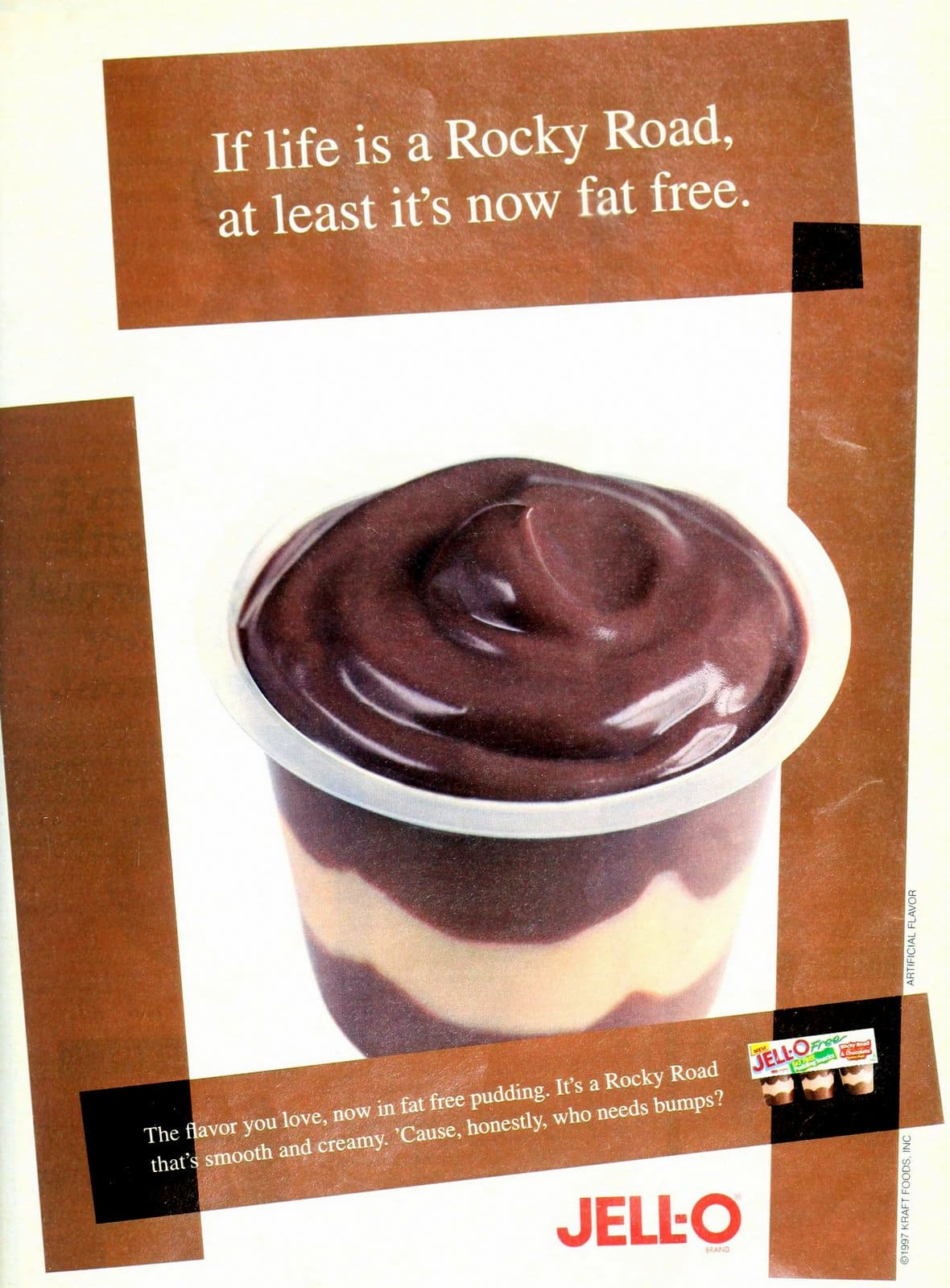 Vintage 1996 Rocky Road layered Jell-O pudding cup